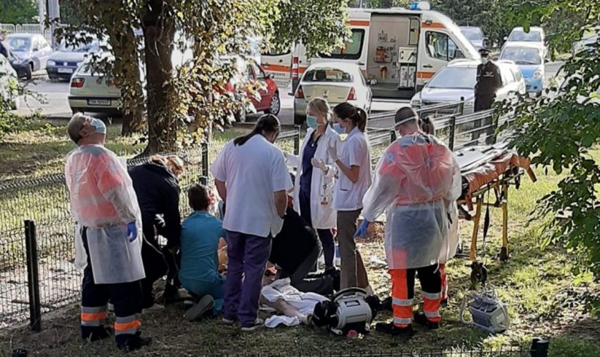 Sinucidere șocantă. O femeie s-a aruncat de la etajul șase al Spitalului Județean Timișoara, la scurt timp după aflarea unei vești teribile