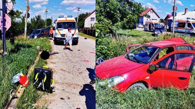 Accident tragic! Trenul a intrat într-o mașină. Imagini cu puternic impact emoțional