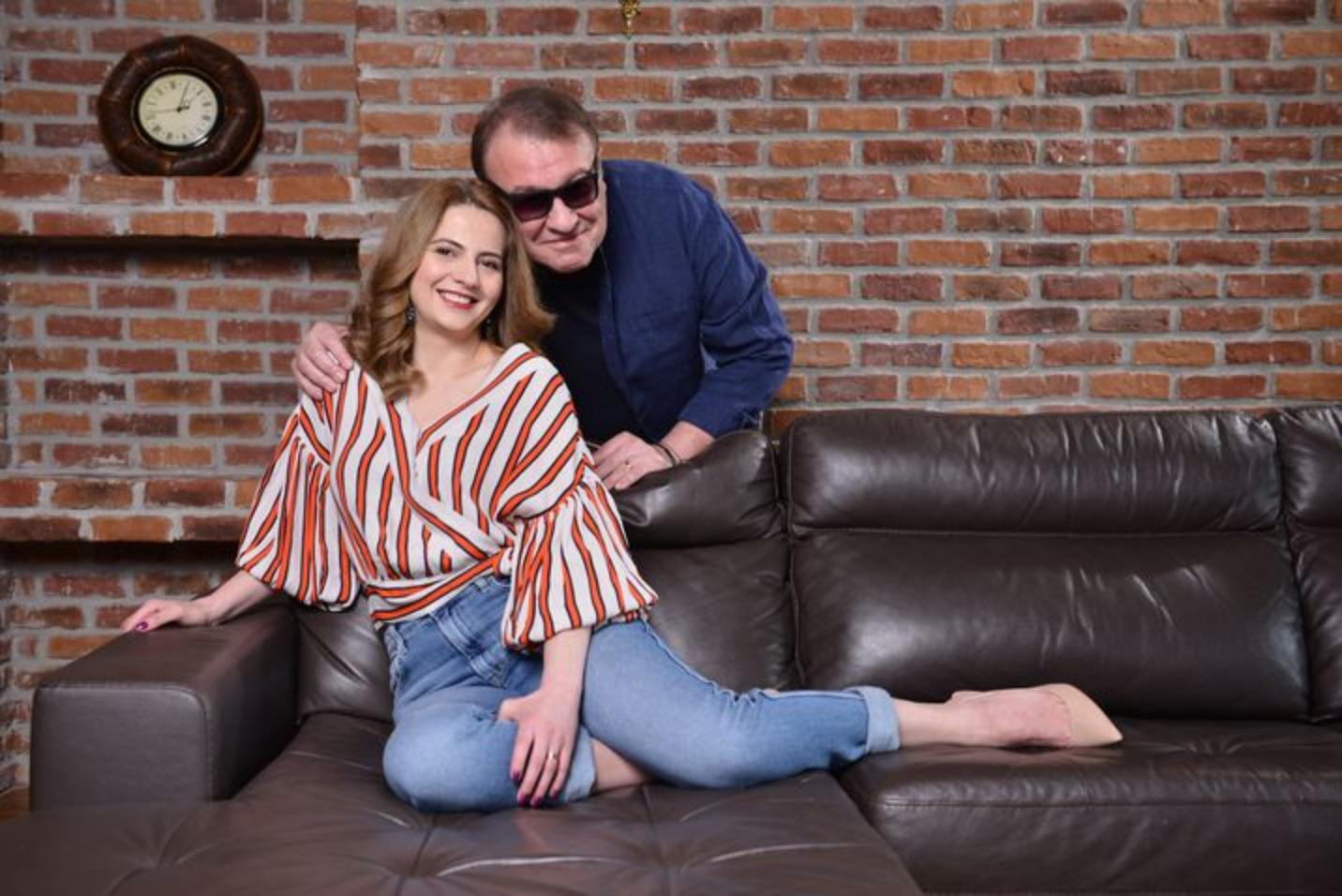 Gabriel Cotabiță cu soția lui