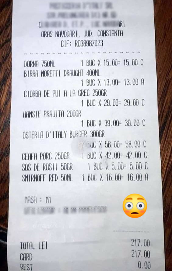 Prețuri imense la restaurantele de la malul mării 2020