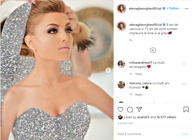 Elena Gheorghe, anunț după 15 ani de relație și 8 ani de căsnicie. Fanii au reacționat imediat