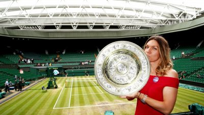 """Ce cadou a primit Simona Halep de la oficialii de la Wimbledon: """"M-au făcut să mă simt ca și cum aș fi acolo"""""""