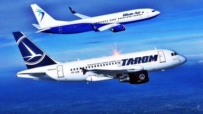 Ajutor de la stat. Câți bani vor primi Tarom și Blue Air din partea Guvernului
