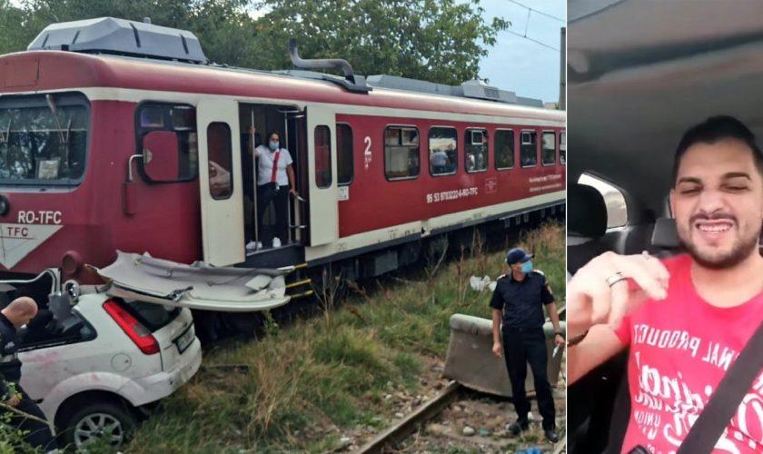 VIDEO: Ploieștean, lovit în plin de tren. Ce făcea pe șine de nu a observat că viața îi este în pericol