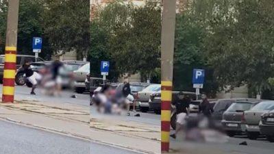 Scene șocante în București. Un taximetrist a fost bătut crunt, în plină stradă