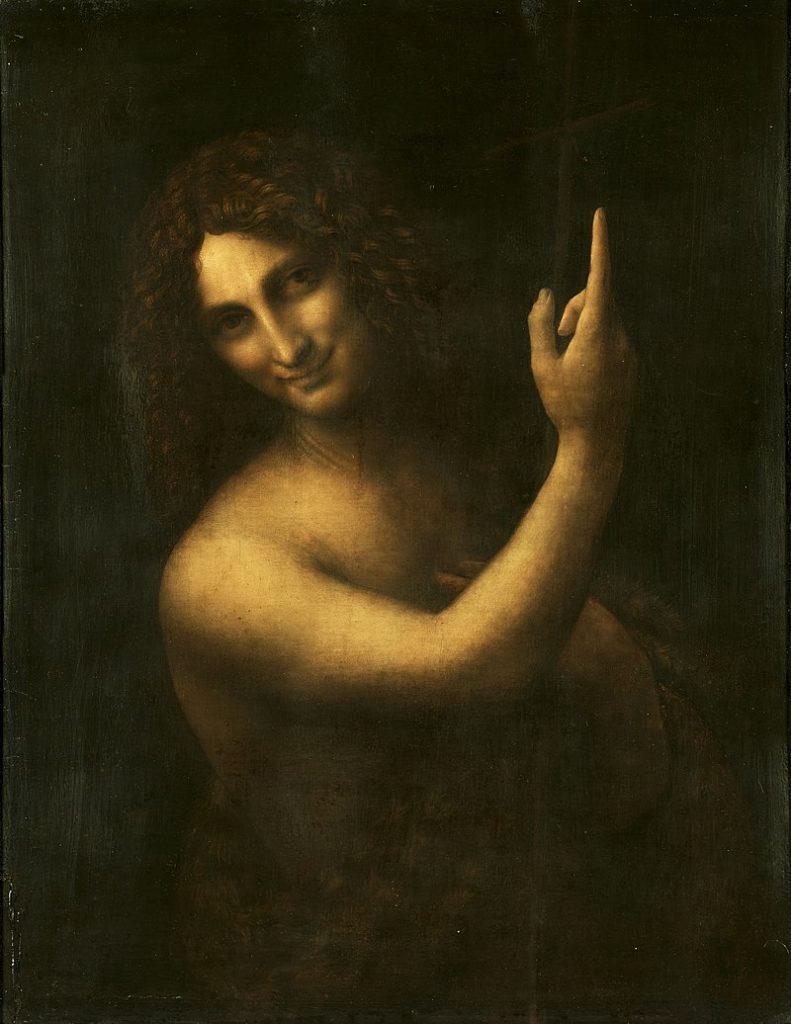 Sf. Ioan Botezătoru - Tablou pictat de Leonardo da Vinci cu trei ani înainte ca pictorul să moară