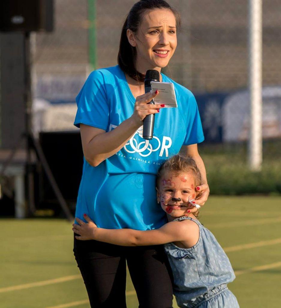 Andreea Răducan și fetița ei, Amira