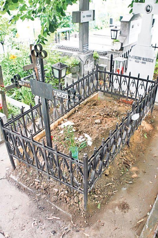 Mormântul Elenei Ceaușescu, înainte de deshumare