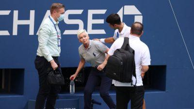 Ce se întâmplă cu arbitra lovită de Djokovic la US Open. Cine o amenință acum, după incidentul trăit