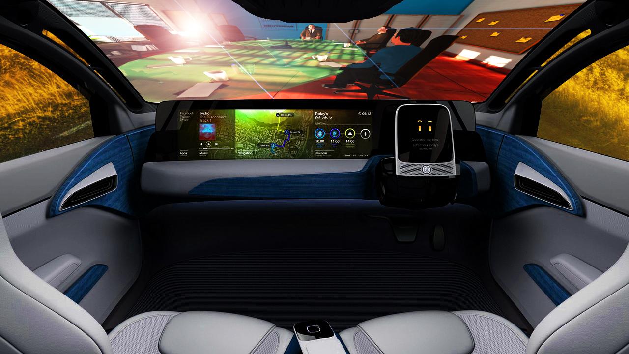 Interiorul unei mașini fără șofer