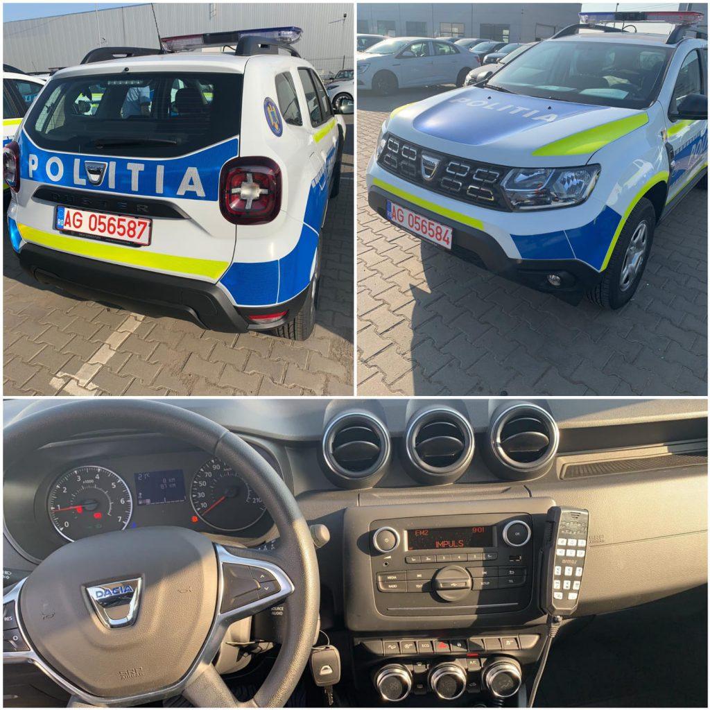 Noile autospecialele de poliție marca Dacia Duster