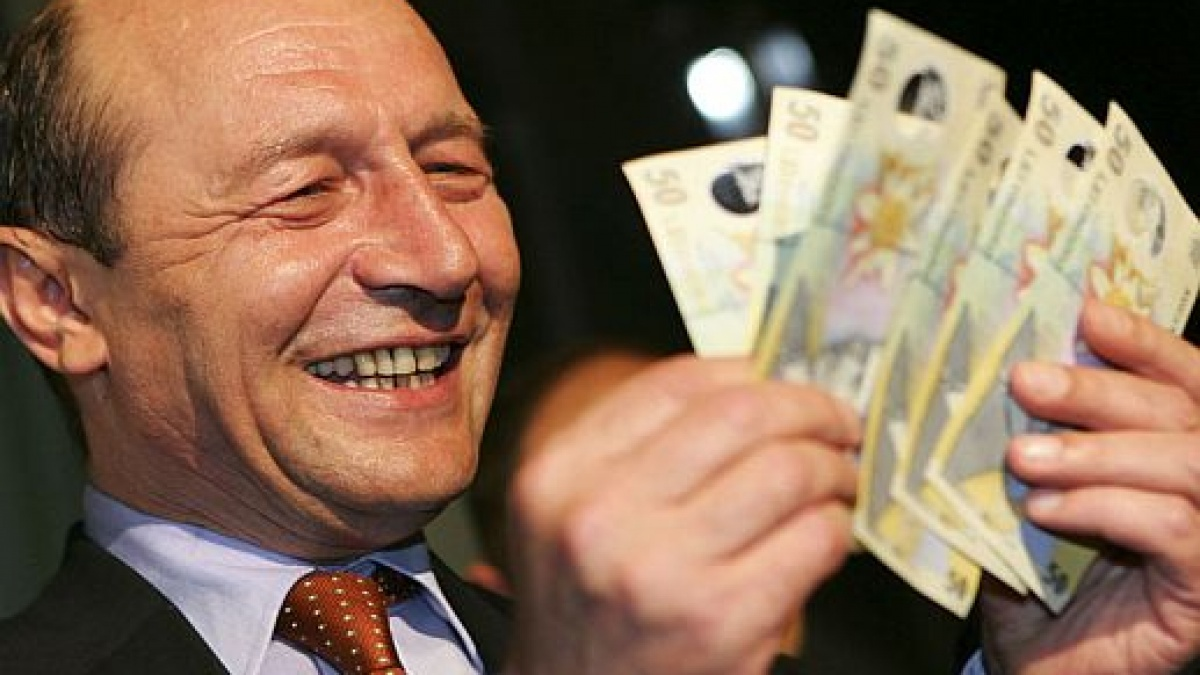 Train Băsescu are o adevarata avere pe card