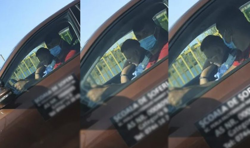 Video. Incredibil, dar adevărat! Polițist examinator, filmat în timp ce trage un pui de somn alături de un candidat care susține examenul pentru obținerea permisului auto
