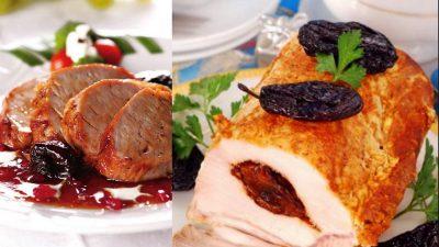 Mușchiuleț de porc cu sos de prune, rețetă ideală de toamnă VIDEO