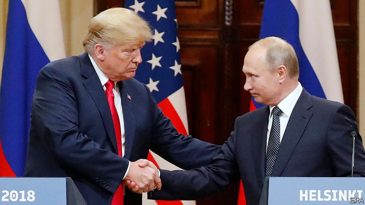 Presedintele SUA, Donald Trump și presedintele Rusiei, Vladimir Putin
