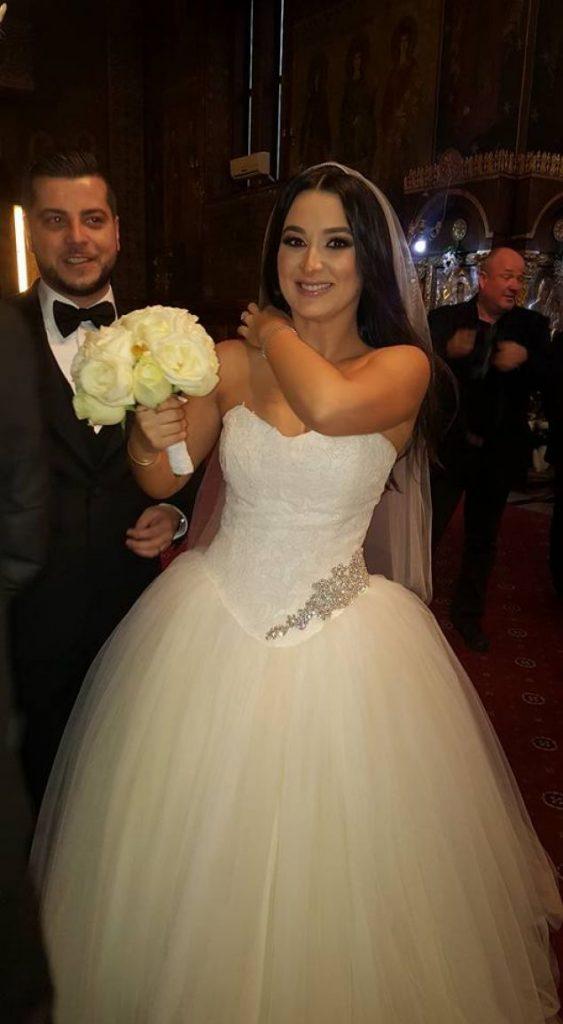 Corina și Honorius în ziua nunții