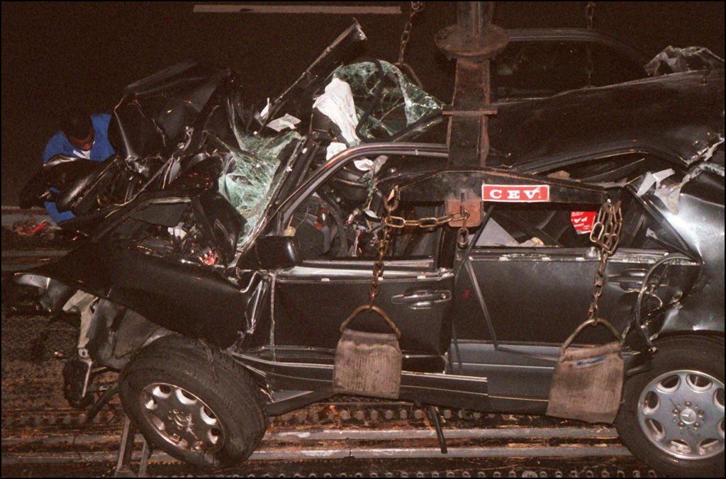 Mașina în care se afla Prințesa Diana