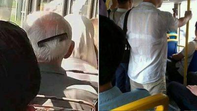 Imagini virale din autobuz. Ce a putut să facă un călător în public. E de tot râsul!