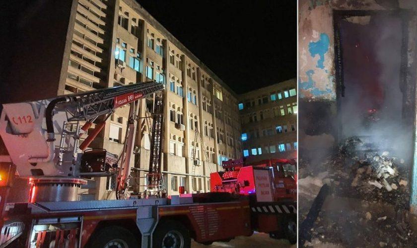 Incendiu la Spitalul CFR din Cluj. 11 pacienți, prinși în încăperea care ardea. Detalii de ultimă oră