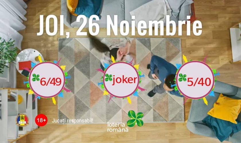 Loto 6/49 și Joker, extragerea de joi, 26 noiembrie. Ce numere au ieșit și câți câștigători sunt
