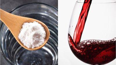 Un bărbat a pus bicarbonat de sodiu în vin. Este uimitor ce s-a întâmplat a doua zi