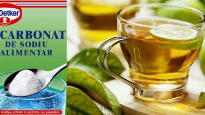 A pus bicarbonat în ceaiul verde și a băut zilnic o cană. Efectele miraculoase au apărut imediat