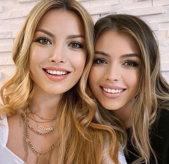 Elena și sora ei, Ana. Par două picături de apă