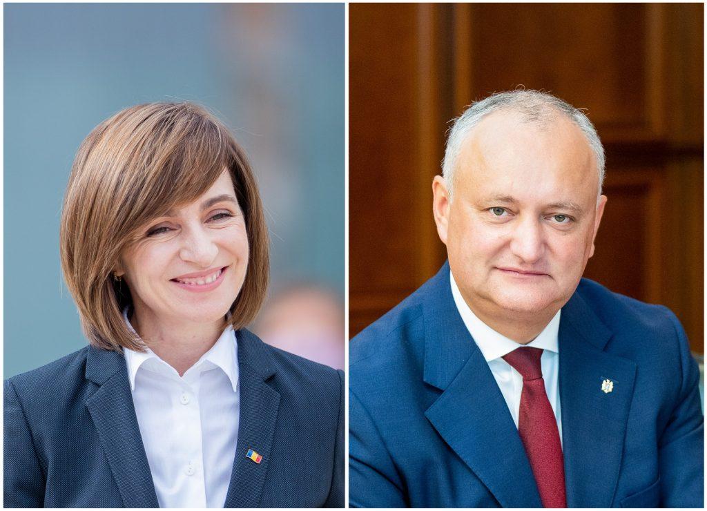 Maia Sandu a castigat primul tur al alegerilor, in fata lui Igor Dodon