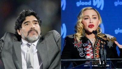 """""""Madonna a murit!"""" Mesajul șocant care a venit după moartea lui Diego Maradona"""