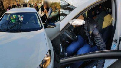 Amendă uriașă pentru o șoferiță care a intrat cu mașina în parcul Tineretului. Ce s-a întâmplat apoi