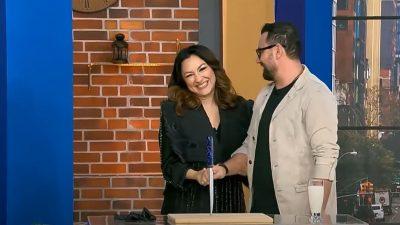Andra a venit în emisiunea lui Cătălin Măruță. Care a fost prima întrebare pe care i-a pus-o soțul său la Pro TV