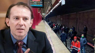Florin Cîțu pedepsește greviștii de la metrou. Ce sancțiune aspră are pentru ei