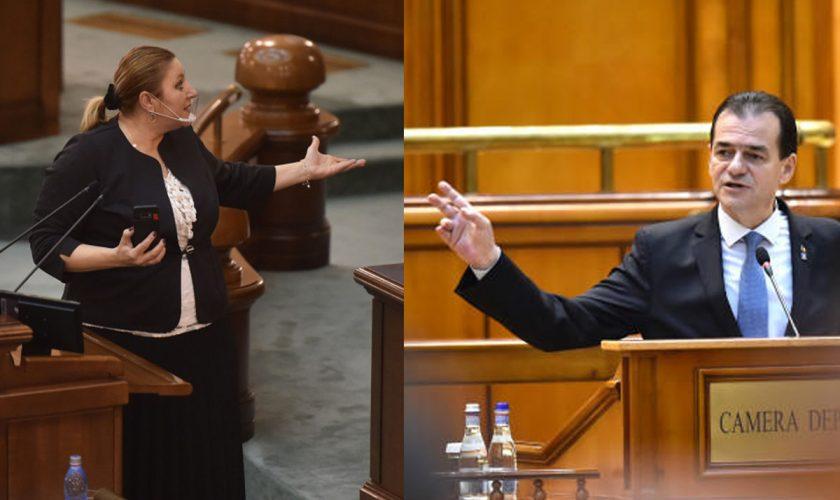 Ludovic Orban, luat la mișto de Diana Șoșoacă în  Parlament. Cum au reacționat imediat colegii