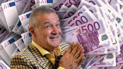 Gigi Becali a dat marea lovitură cu FCSB. Câte sute de milioane de euro a încasat