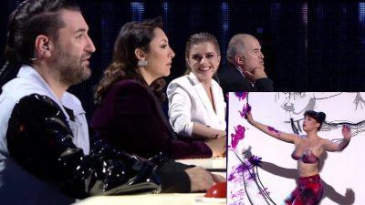 """Moment artistic sublim la Românii au Talent. Artista care i-a lăsat pe jurați cu gura cascată: """"Sunt rebelă"""" VIDEO"""
