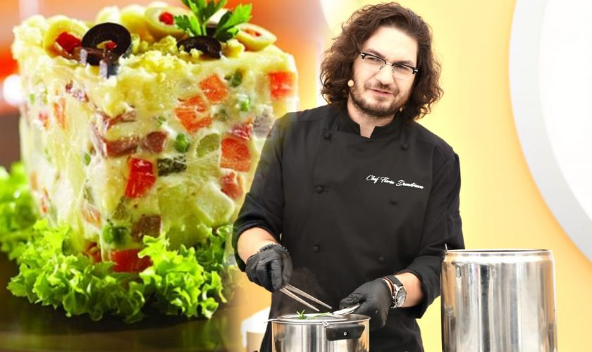 Salată de boeuf a la Florin Dumitrescu. Rețeta potrivită pentru masa ta de Paște