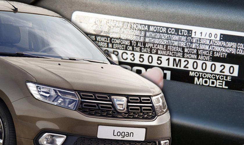 Unde se găsesc, de fapt, seriile de șasiu la modelele Dacia Logan