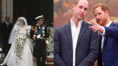 Ce se întâmplă cu rochia de mireasă a Prințesei Diana. Prințul William și Harry au fost de acord
