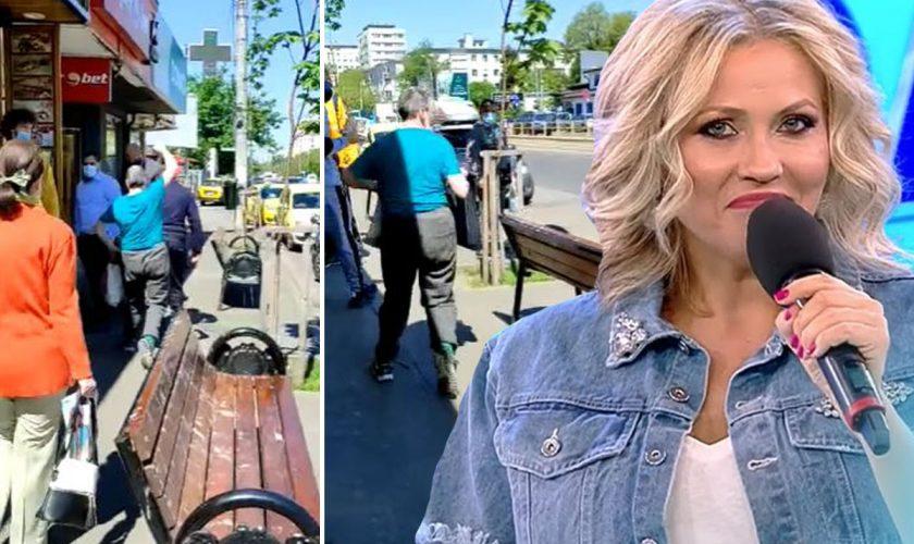 Agresoarea Mirelei Vaida atacă lumea în București. Imaginile arătate de Adriana Bahmuțeanu