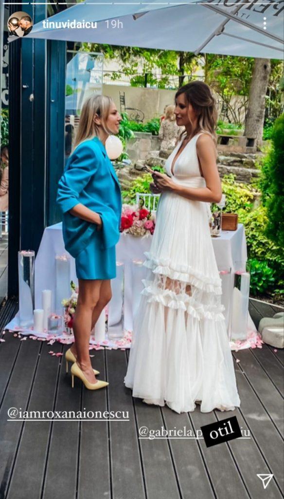 Gabriela Prisăcariu, Roxana Ionescu, nuntă, nași