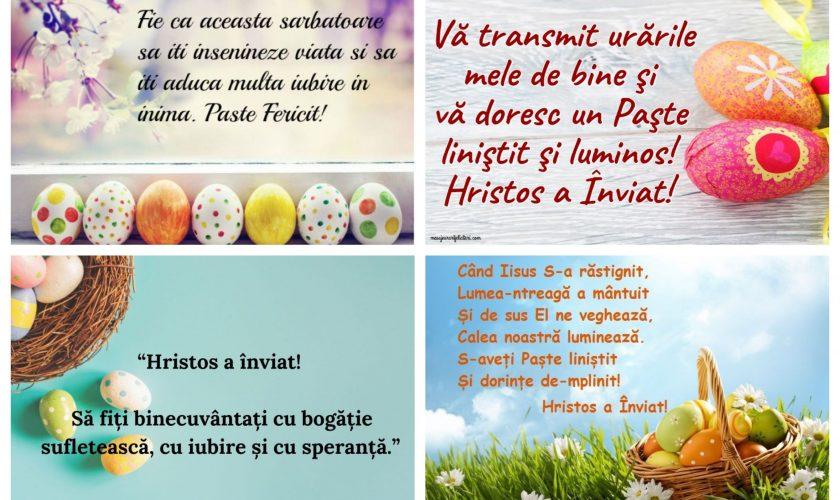 """Felicitări în imagini de Paște. Colaje FOTO cu mesajul """"Hristos a înviat!"""" pe care să le trimiți pe Whatsapp sau Messenger"""