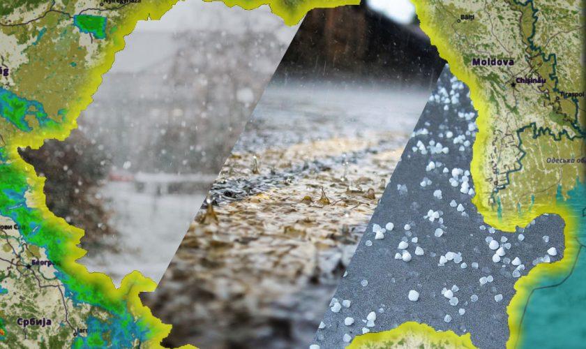Meteo. Avertisment crunt de la ANM: ninsori, ploi și grindină în România. Când vine căldura