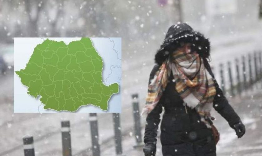 Meteo. Temperaturile scad grav și lapovița vine în România. Ce frig vom îndura iar