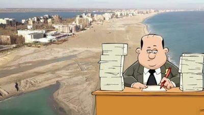 Plaja lărgită de la Mamaia nu poate fi folosită de turiști, de fapt. Până când nu pot păși pe ea