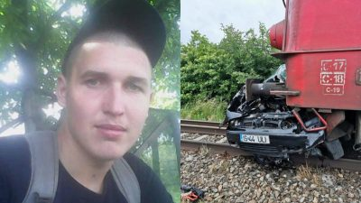 Sinucidere sau accident nefericit? Detalii terifiante despre tânărul care a murit zdrobit în mașina lovită de tren la Iași