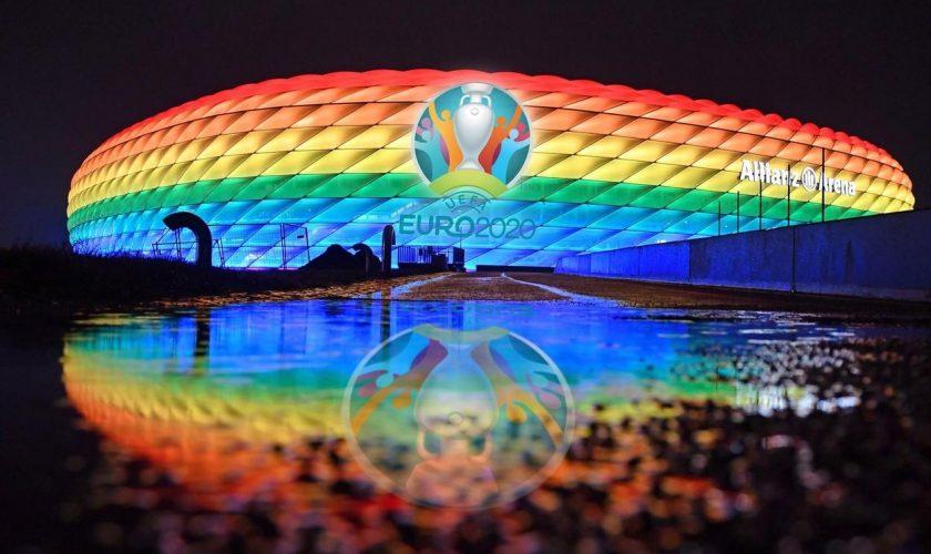 Euro 2020. Cum se răzbună Germania pe UEFA după ce forul european a interzis iluminarea stadionului din Munchen în culorile curcubeului