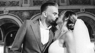 Roxana Ionescu și Tinu Vidaicu s-au căsătorit. Mama Natură a surprins cu rochia de mireasă