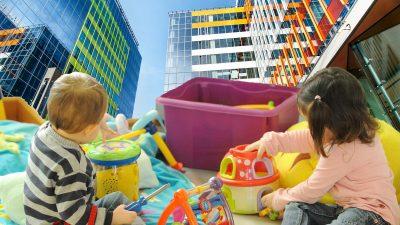 Anunțul momentului cu privire la construcția creșelor moderne în clădirile de birouri în care lucrează părinții. Singura condiție care trebuie îndeplinită