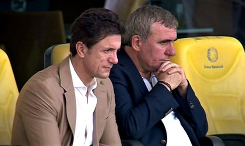 Ce au făcut Gică Popescu și Gică Hagi la primul meci Euro 2020 din România. Frumos!