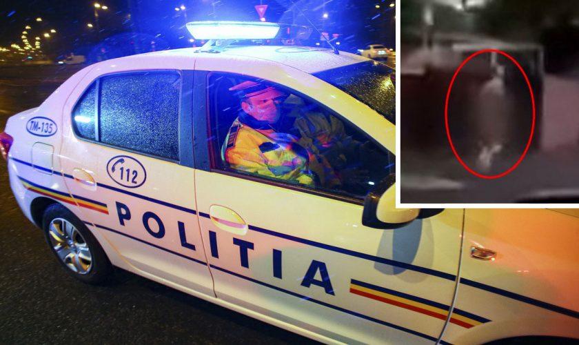 Ce s-a întâmplat cu polițistul care a alergat gol în București. Poliția a reacționat imediat